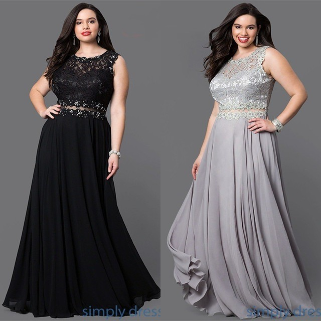 Plus Size Prom Dresses 2019 Sexy Illusion Waist Backless vestido de festa Women Solid Color Chiffon Lace Prom Long Elegant Dress
