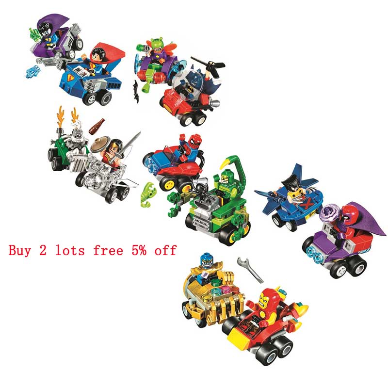 Pogo Bela Superman Wonder Woman Spider Man Wolverine Super Heroes Marvel Building Blocks Bricks Compatible legoe Toys lepin 75821 pogo bela 10505 birds piggy cars escape models building blocks bricks compatible legoe toys