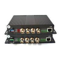 High Quality 4 Channels HD SDI Video/Audio/Ethernet over Fiber Optic Media Converters Transmitter Receiver for HD SDI CCTV, LC