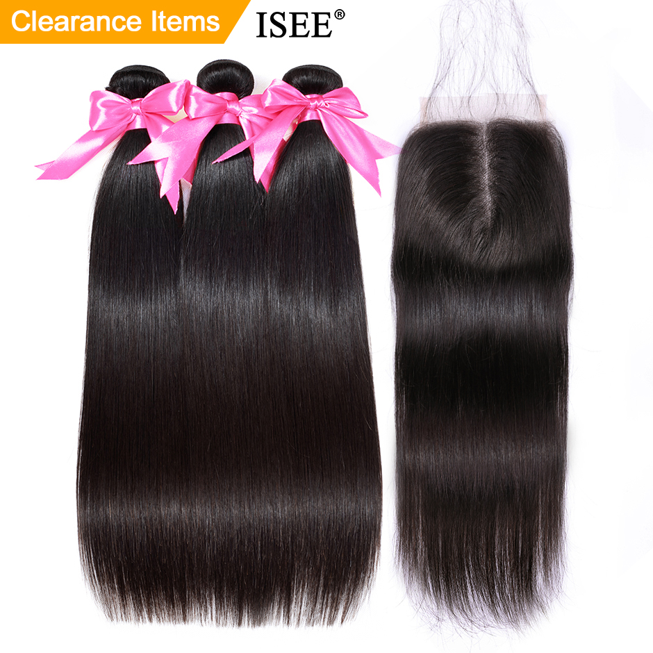 Straight Hair Bundles With Closure ISEE HAIR Remy Human Hair Bundles With Closure Brazilian Hair Weave Bundles With Closure-in 3/4 Bundles with Closure from Hair Extensions & Wigs on Aliexpress.com | Alibaba Group
