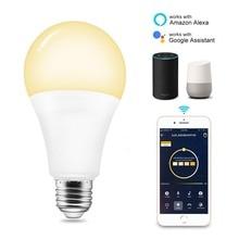 Led Bulb E27 Smart Wifi Light Bulb Alexa/Google Home 7W APP WIFI Remote Control Smart light Wifi Warm White and RGB Lamp Bedroom