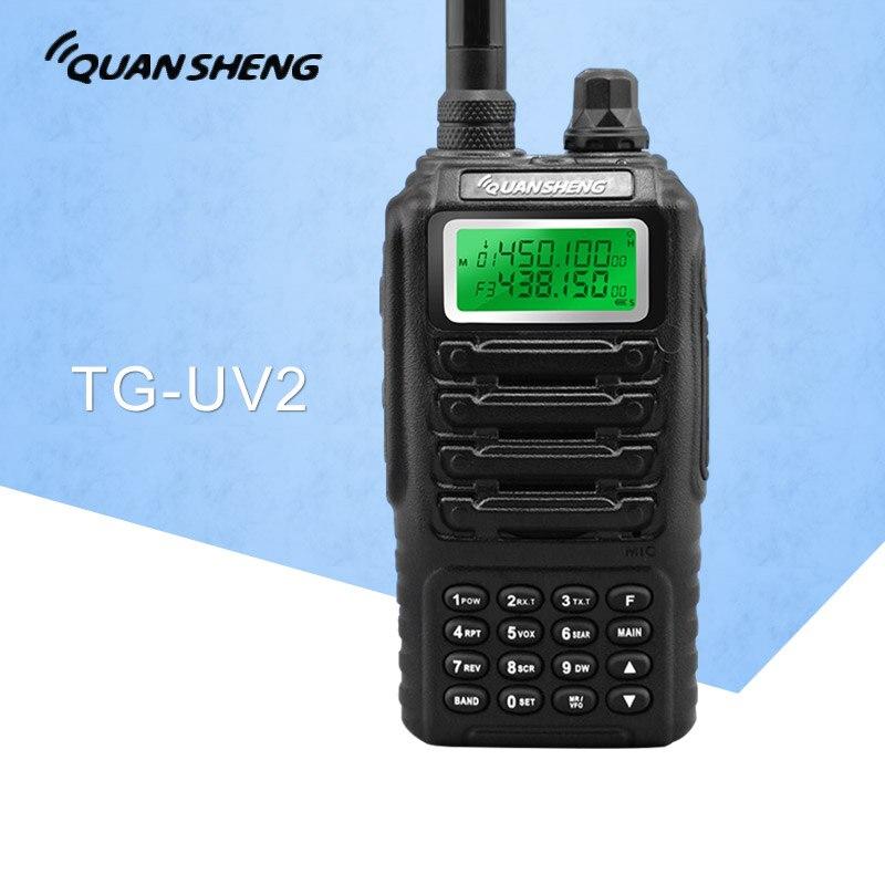 Dual Band 2 Vie Two Way Radio Dual Standby Doppio Display QUANSHENG TG UV2 con Certificazione