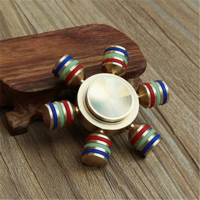 Luminous Fidget Tri-Spinner Toys Sensory Fidgets Autism ADHD Hand Spinner Anti Stress Funny gifts EDC Rotation Long Time
