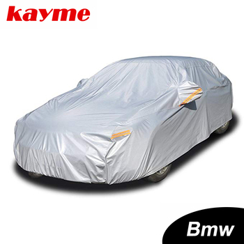 Kayme aluminium Waterproof car covers super sun protection dust Rain car cover full universal auto suv protective for BMW