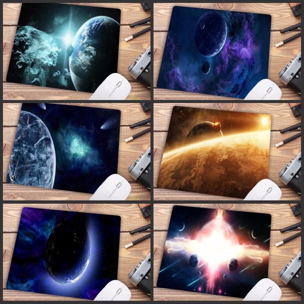 Big Promotion Planets In Space Keyboards Mat Rubber Gaming Mousepad Desk Mat Rubber Mouse Pad Computer Game Tablet Mat