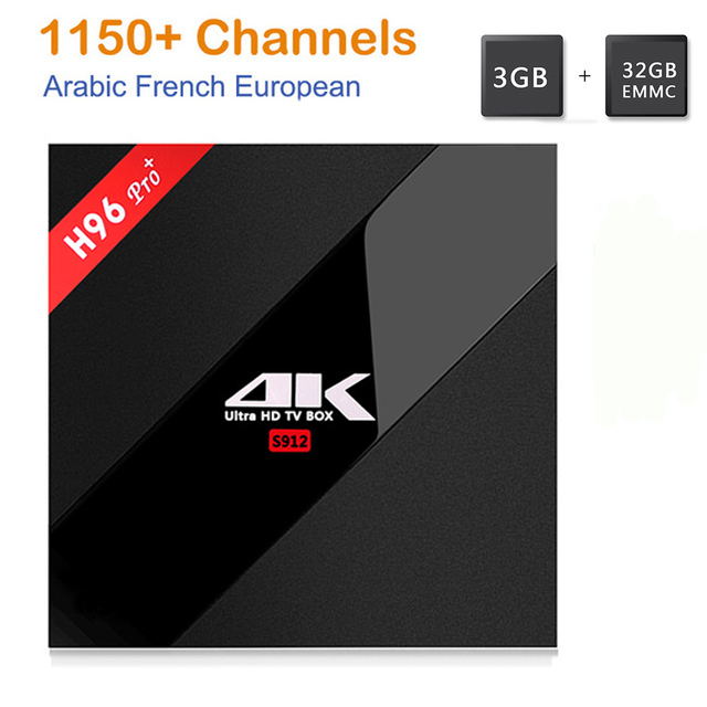 H96 Pro+ tv box Amlogic S912 3GB/32GB smart tv+1 year Arabic French US UK Italy Sweden Africa European IPTV server 1150+Channels ботинки ecco ботинки