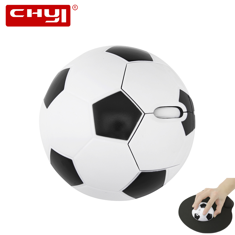 Wireless Mouse Fashion Football Shaped 2.4Ghz Optical Computer Mice Sports ball Gaming Mouse with USB Receiver for PC Laptop