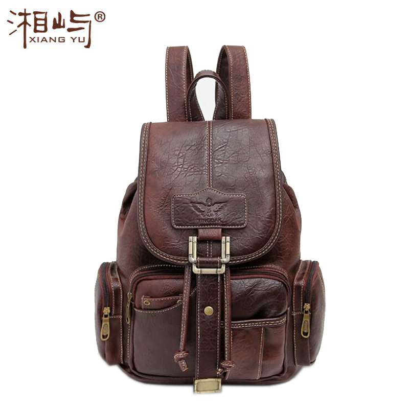 2017 New Super Luxury Women s Backpack Female Leather School Shoulder Bag Travel Backpacks for Girls