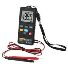 ANENG AN301 мини цифровой мультиметр 1999 отсчетов портативный вольтметр переменного тока постоянного тока сопротивление Амперметр метр тестер с светодиодный светильник