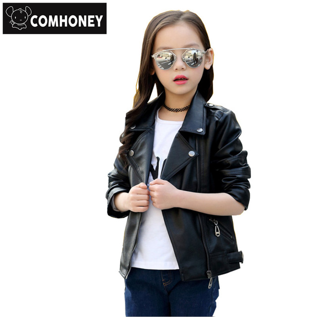 51a5e64fae63 Children Pu Leather Suede Jacket Spring Autumn Boys Girls Motorcycle