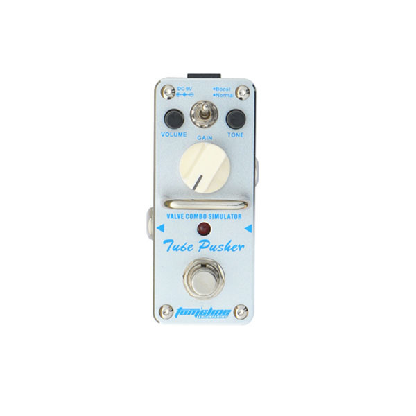 New AROMA ATP-3 TUBE PUSHER Vlave Combo Simulator (Overdrive) Mini Analogue Effect True Bypass aroma dumbler dumble amp simulator guitar effect pedal adr 3 sound overdrive mini analogue volume control gain tone control