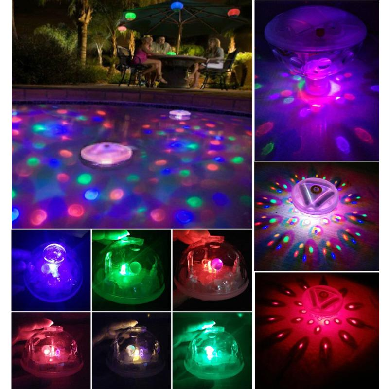 Waterproof Underwater Flashing Colorful Light Floating LED Swimming Pool LED Floating Light Festival Disco Party Light