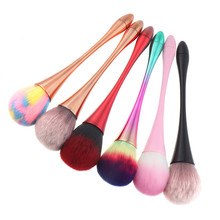 Outtop maquiagem 1 pçs escova de maquiagem beleza em pó grande blush chama escova fundação cosméticos compõem escovas ferramenta jan04