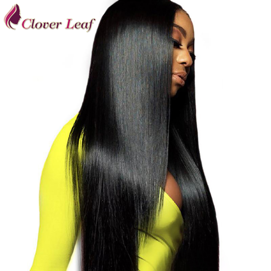 Lace Wig Human-Hair Straight for Black Woman Remy Pre-Plucked