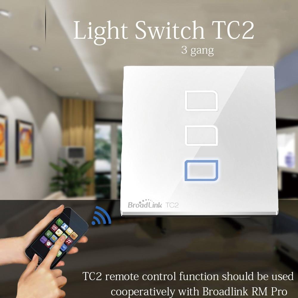 New Broadlink TC2 EU light switch smart remote control wall switch ...