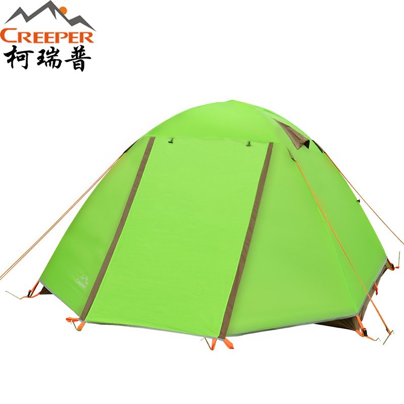 3-4 person Windproof Waterproof Anti UV Double Layer Tent Ultralight Outdoor Hiking Camping Tent 3 4 person outdoor camping tent double layer quick open install tent waterproof 230x210x140cm