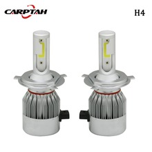 Carptah C6 COB H4 Hi/Lo LED Headlight 110W 11000LM All In One Plug&play Car LED Headlights Bulb Headlamp Fog Light 12V 6000K