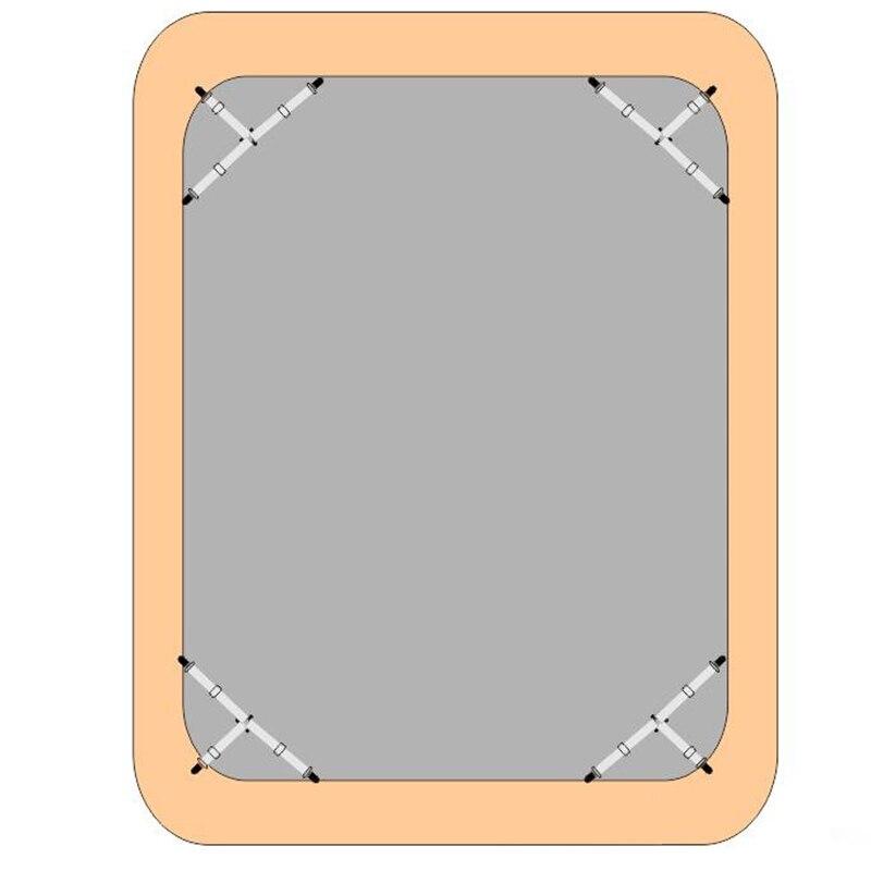 Металлический зажим зажимы Мебель Ткань металлическая застежка зажим для листов Ремешок Зажимы для матраца