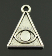 Hot 60pcs Fashion Jewelry Wholesale Antique Silver Pyramid Eye Charms For Pendant Necklace&Bracelet Fitting Free shipping C387