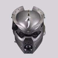 Silver Led Pig Headlight For Harley Honda Kawasaki Suzuki Yamaha Triumph Victory
