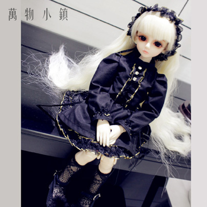 NEW Black Princess Clothes Skirt/Dress/Suit(4pcs)/Outfit 1/3 1/4 1/6 BJD SD MSD YOSD LUTS Doll Clothes new handsome fashion stripe black gray coat pants uncle 1 3 1 4 boy sd10 girl bjd doll sd msd clothes