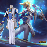 Cafiona Hot Game LOL EZ Ezreal Cosplay Costume Cool and Fantastic Man Set Halloween Team Outfits