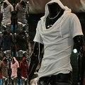 2015 nueva personalidad del ocio de hombre de manga corta camiseta encapuchada