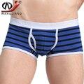 Men's Underwear Cotton Boxers Brand 2016 Wangjinag Low Rise U Convex Bulge Pouch Gay Panties Sexy Striped Boxers
