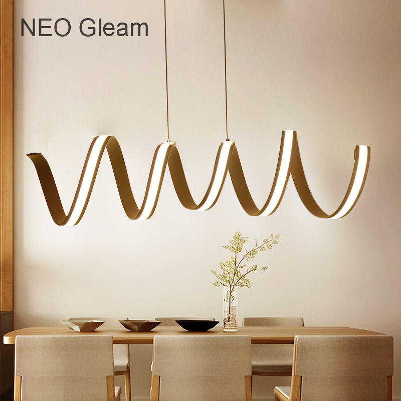 New Arrival Modern Aluminum Led Pendant Chandelier For Dining Room Kitchen AC85-265V Acrylic Pendant Chandelier Lamp Fixtures