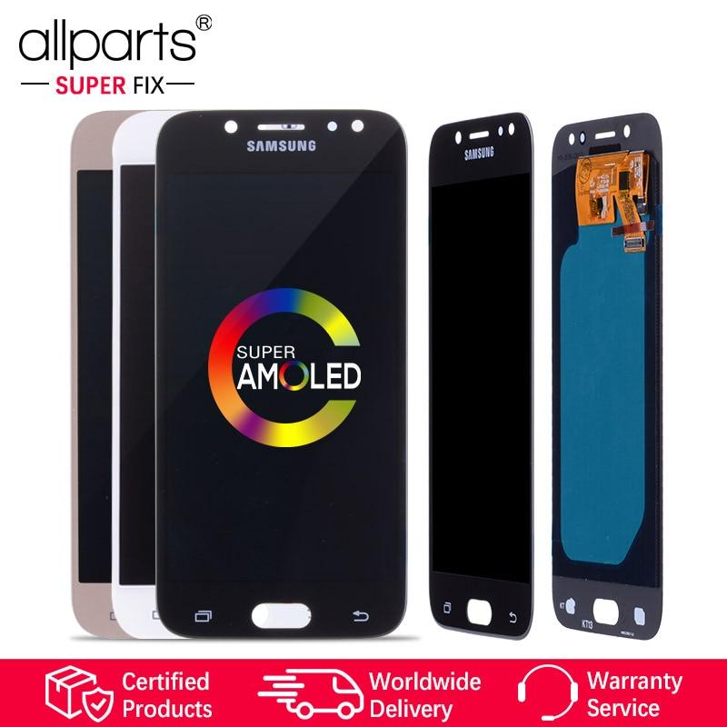 5.2'' Super AMOLED Оригинальный тачскрин дисплей экран для SAMSUNG Galaxy J5 2017 дисплей Оригинал LCD с тачскрином в рамке замена запчасти J530 Черный белый зол...