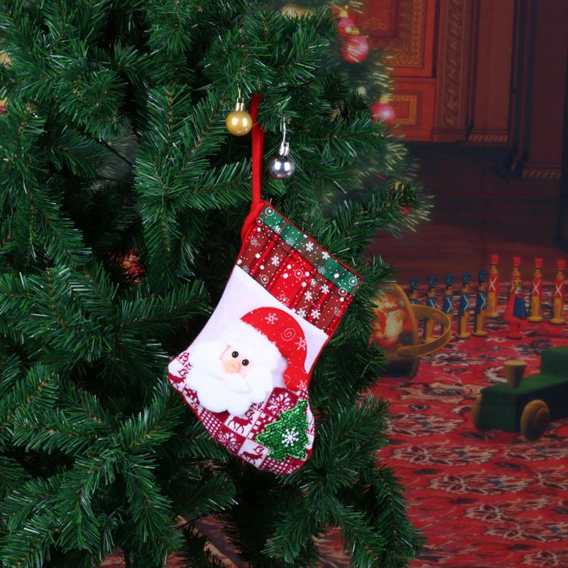 Creative Christmas Stocking Chrismas Decorations for Home Christmas Tree Ornaments Non-woven fabricGift Bags Holders Stockings