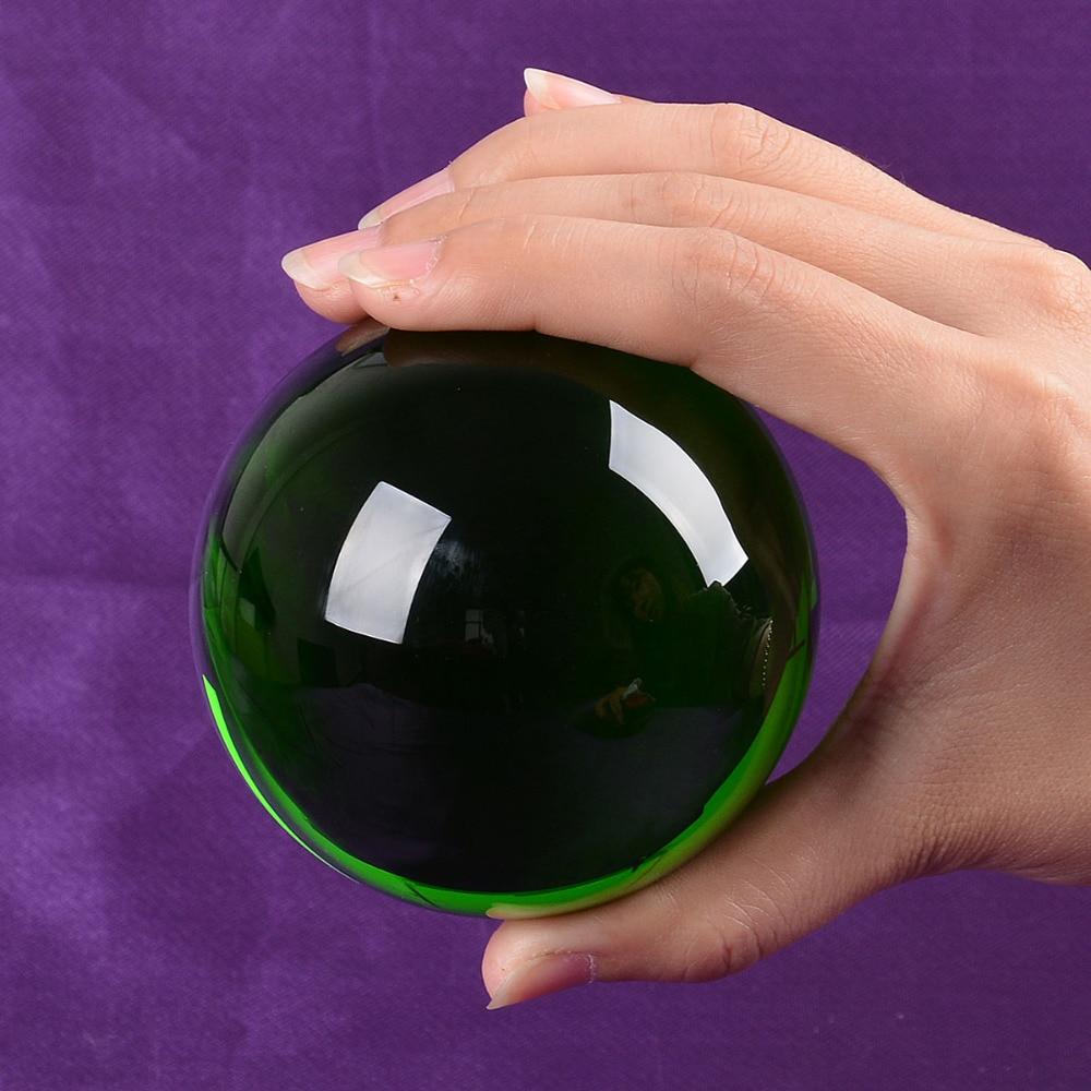 미국 80 미리 메터 희귀 녹색 아시아 석영 풍수 공 크리스탈 볼 구 패션 테이블 장식 행운의 공 무료 배송