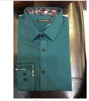 2017 New Long-sleeved Azul Amarelo Rosa Camisa Dos Homens Casamento/Prom Noivo Camisas Homem Noivo Camisa Do Partido camisa masculina para Terno