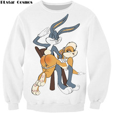 PLstar Cosmos men women harajuku hoody Bugs Bunny/Pokemon/Teddy Bear print 3d sweatshirt hoodies outdoors S-5XL Drop Shipping