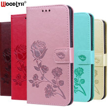 Redmi Note 7 PU Leather Flip Case For Xiaomi Pro 3D Rose pattern Wallet Phone Note7 Cover