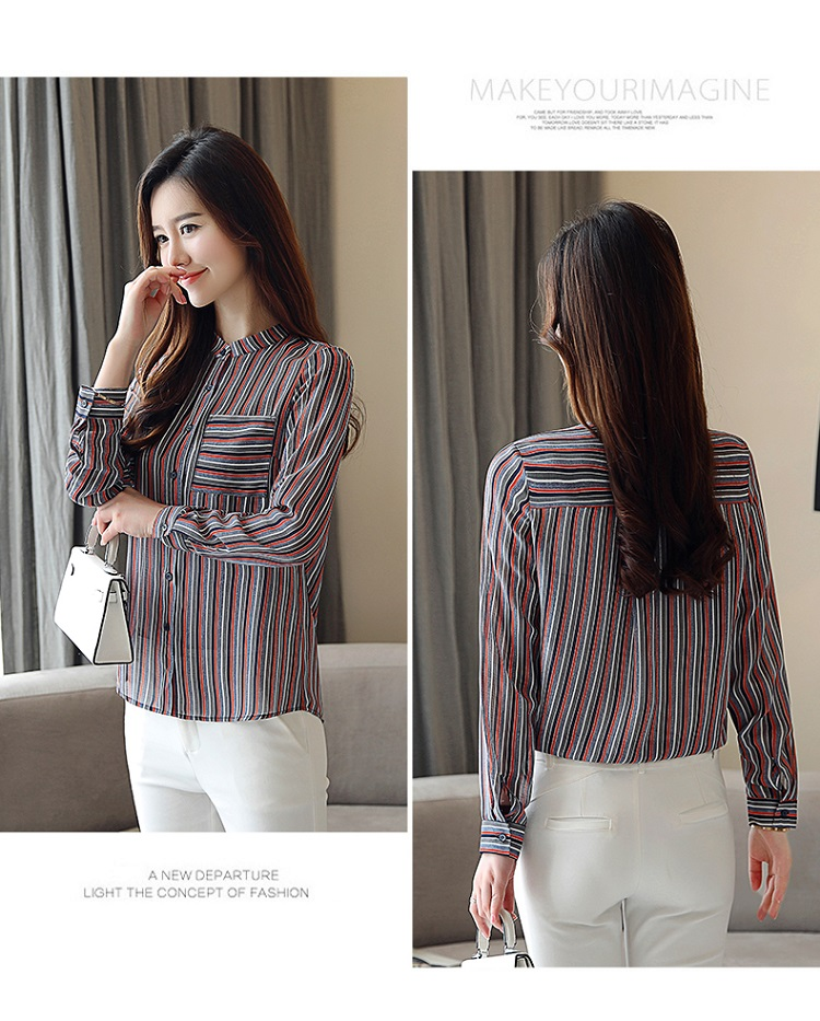 BIBOYAMALL 2018 New Spring Fashion Long Sleeved Blouses Plus Size ... c4892fbe1cd3