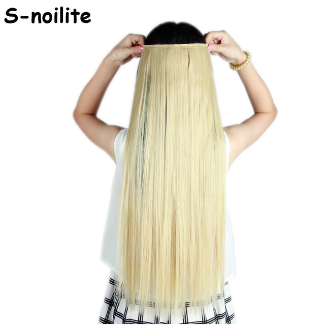 Golden Mix Bleach Blonde 100 Natural Colors 6cm 5 Clips In Hair
