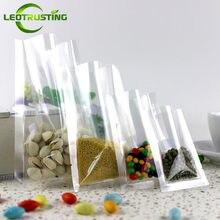 Leotrustting – sac Transparent sous vide, 100 pièces, sac d'emballage hermétique à chaud pour aliments, viande, poisson, fruits, sac cadeau en plastique Transparent
