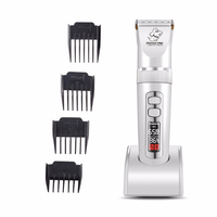 Baorun LCD Screen Pet Hair Trimmer Electric Rechargeable Animal Grooming Clipper Cat Dog Hair Cutter Shaver