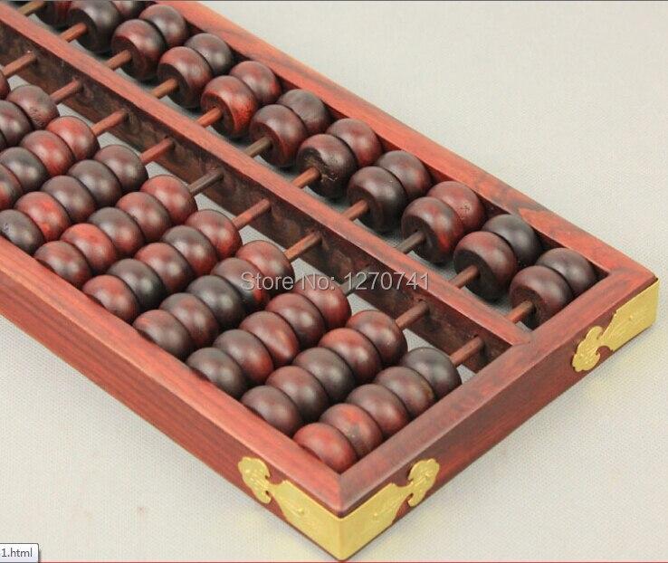 Haute qualité 15 colonne vieux séquoia Abacus chinois soroban outil en mathématiques éducation pour comptable