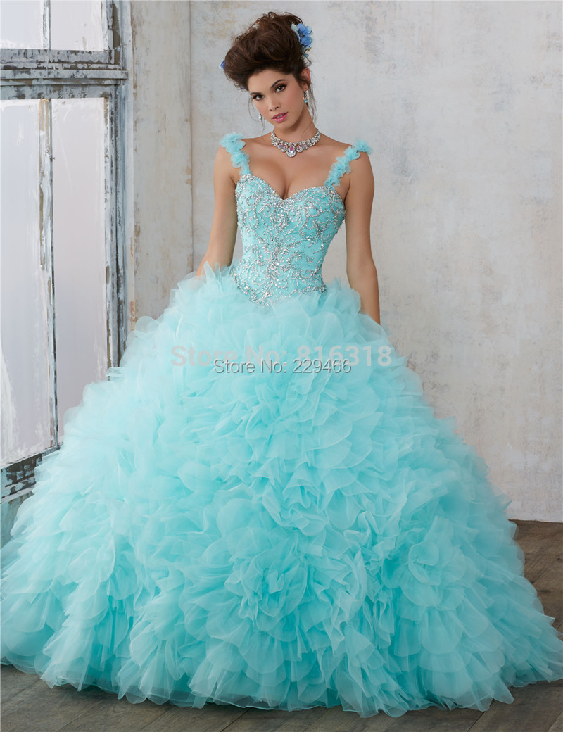 c4b72448075 Light Pink Quinceanera Dresses 2017 Cheap Sweet 16 Dresses Debutante Aqu  Online Ball Gown Dress for 15 Years-in Quinceanera Dresses from Weddings    Events