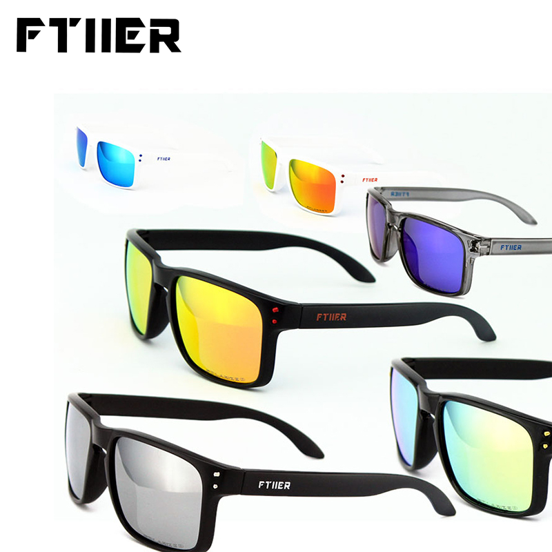 Ftiier Bike Riding Cycling Sunglasses Bicycle Riding Glasses TR90 Outdoor Sports Fishing MTB Men Women Polarized Glasses Eyewear