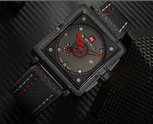 Image 2 - Naviforce Uhren Männer Marke Luxus Leder Quarz Männer Uhr Mode Lässig Militär Sport Männliche Datum Armbanduhren Luminous Uhr