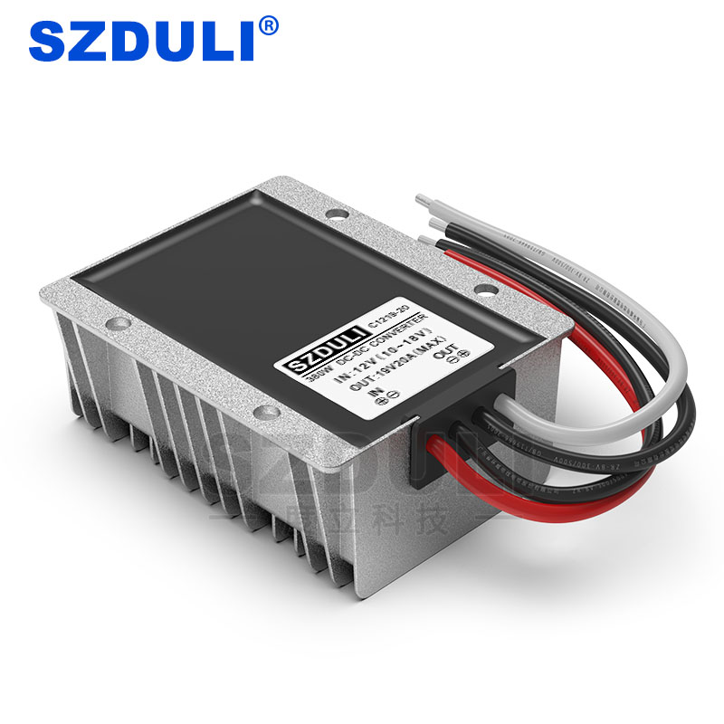 12V to 19V 20A DC power boost module 10~18V to 19V 380W notebook power converter CE RoHS waterproof
