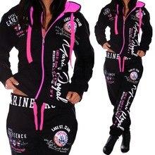 Conjunto de dos piezas de talla grande para mujer, moda, conjuntos de chándal para mujer, trajes de pista informales, conjunto de mujer, conjunto de chándal rosa