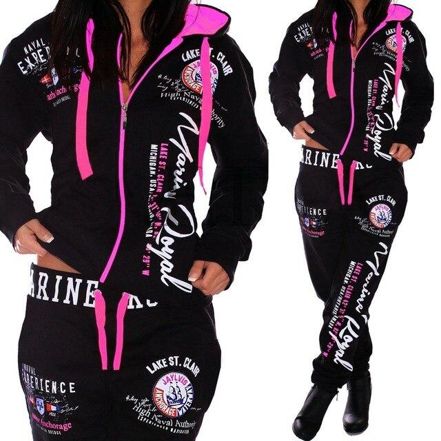 Fashion Plus size Two Piece Set Woman Joggers Suit Sets Brand new Casual track suits woman set Pink outfits Tracksuit women Set