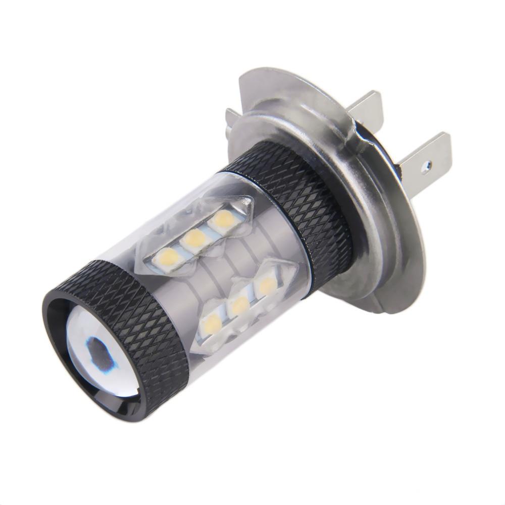 1x 80W H7 LED Bulb 16 SMD Car Fog Light DC 12V~24V  White Headlight DRL Fog Lamp Light Sourcing 1920lm Hot Selling 2x 80w h7 led bulb 16 smd osram car fog light dc 12v 24v 360 degree 760lm white fog light 6000k drl fog lamp light sourcing