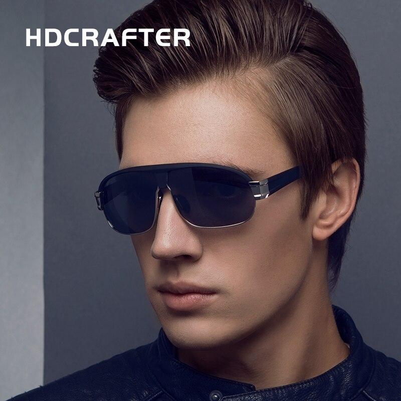 Hdcrafter brand new alta qualidade dos homens sunglasss polarizada condução óculos  uv 400 moda oculos de sol masculino 67fe83c49e