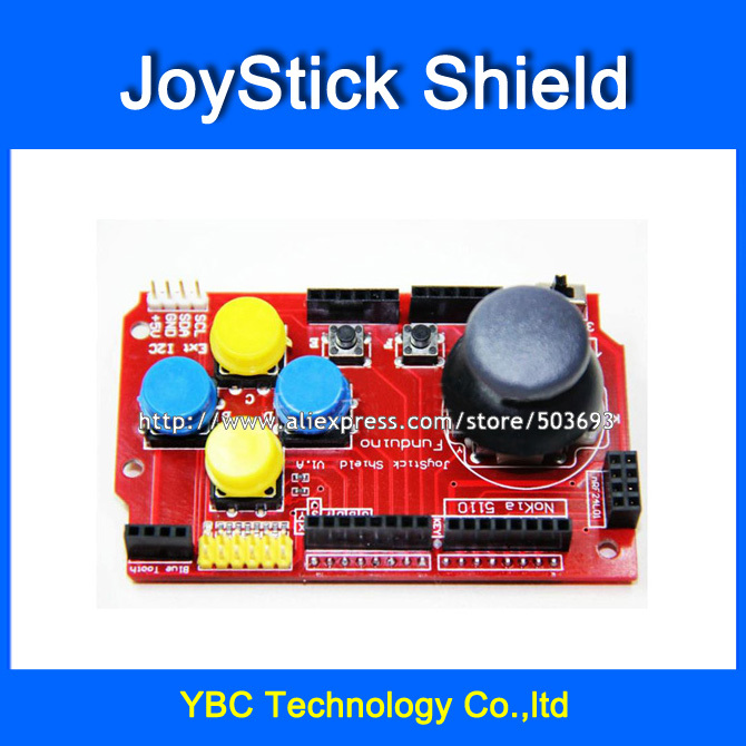 The Best Free Shipping 2pcs/lot Joystick Shield Expansion Board Analog Joystick Button Keyboard And Mouse Functions