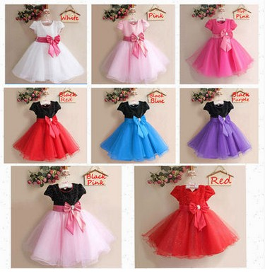 heat! Child girl big butterfly elegant child children baby princess dress chiffon evening dress formal 2-7years free shipping
